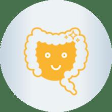 Happy gut icon