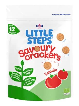 LITTLE STEPS Organic Savoury Crackers - Tomato